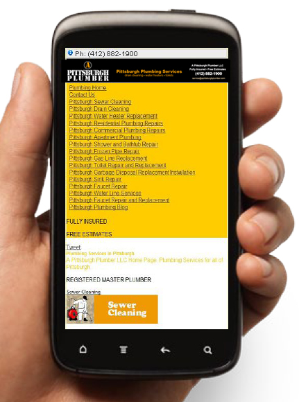 A Pittsburgh Plumber Mobile Screenshot